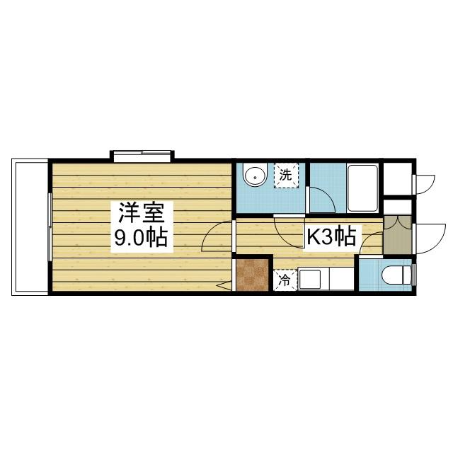 「愛媛マンスリー松山市空港通」間取図画像
