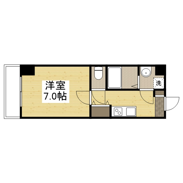「Kマンスリー大阪弁天町駅前」間取図画像