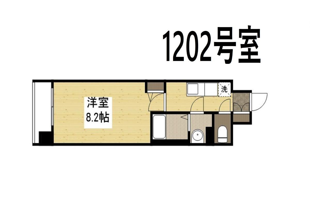 「Kマンスリー大阪日本橋黒門市場前」間取図画像