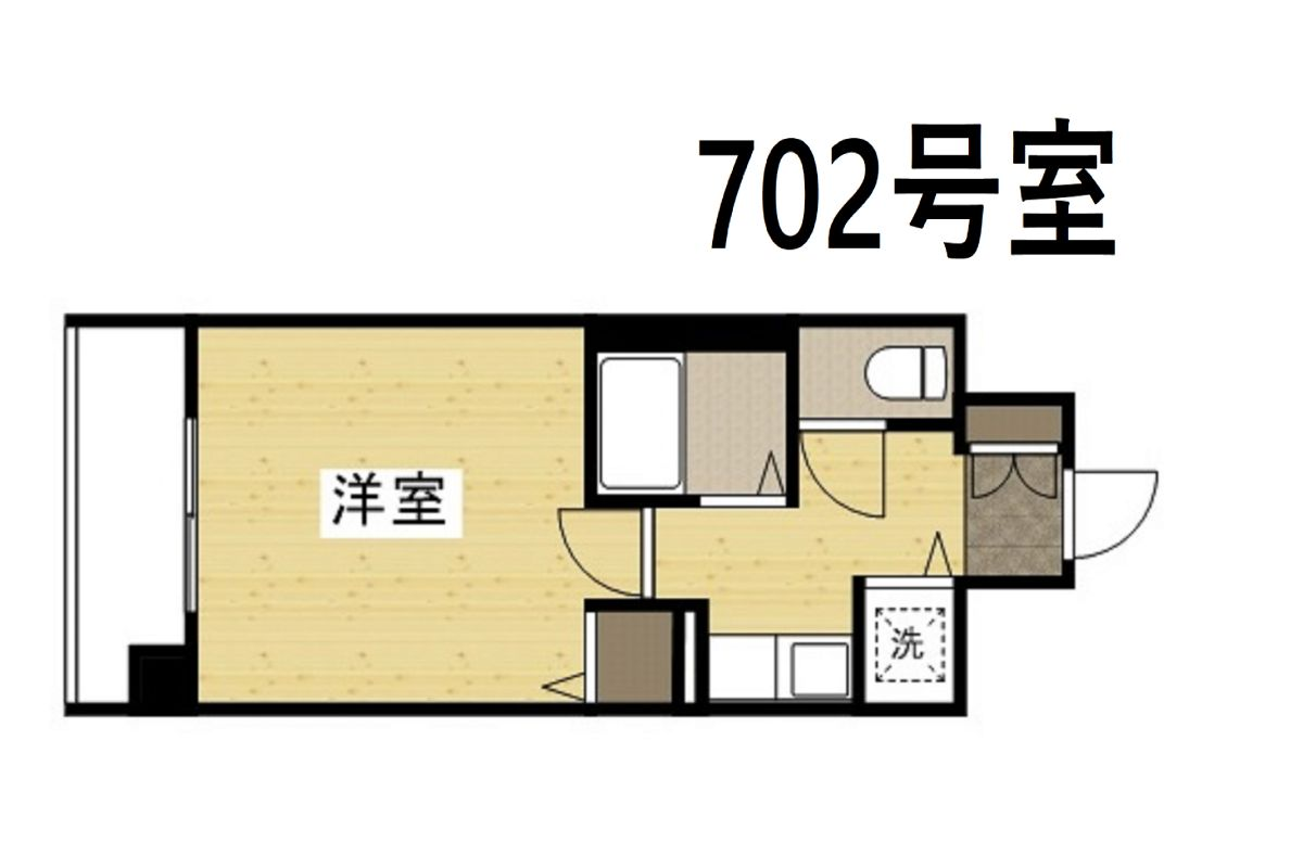 「Kマンスリー大阪阿波座駅前【靭公園西】」間取図画像