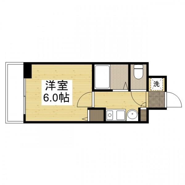 「Kマンスリー大阪梅田駅西【大阪中央病院】」間取図画像