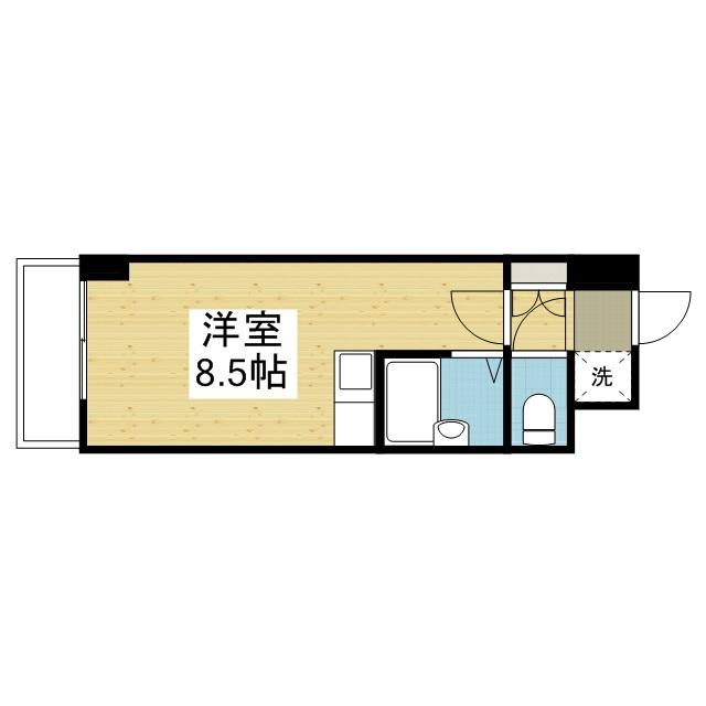 「愛媛マンスリー松山市西石井」間取図画像