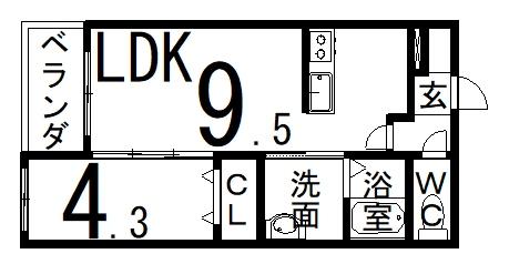 「RBマンスリー福井 成和」間取図画像