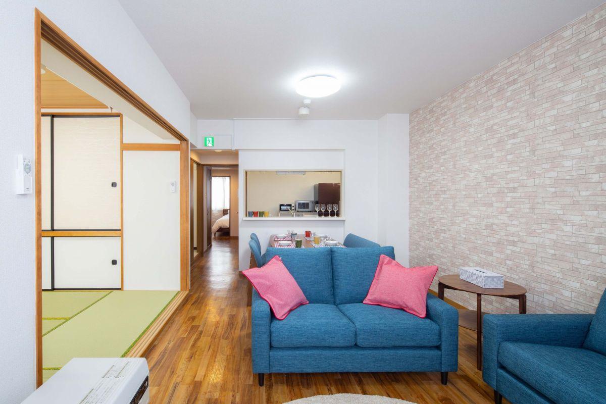 札幌のマンスリーマンション・ウィークリーマンション「ノースステイ新札幌 404・3LDK」メイン画像