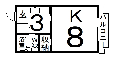 「RBマンスリー福井 CASAHIRO」間取図画像