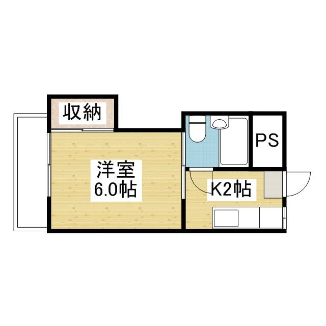 「愛媛マンスリー松山市石手川」間取図画像