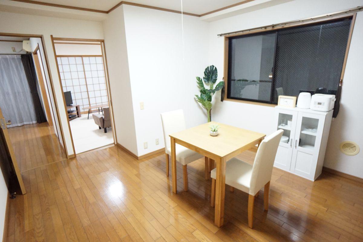 福井県のウィークリーマンション・マンスリーマンション「RBマンスリー福井 ルナフロース 2DK」メイン画像