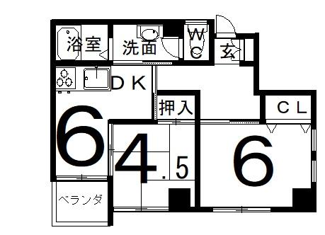 「RBマンスリー福井 ルナフロース」間取図画像