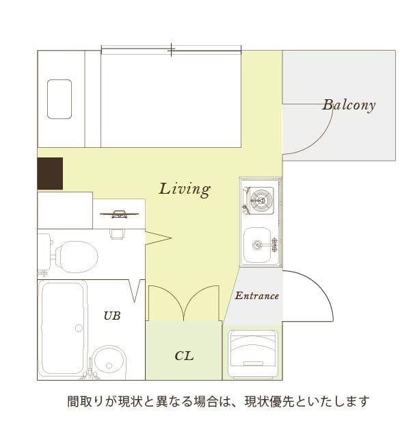 東京都荒川区のウィークリーマンション・マンスリーマンション「ユニオンマンスリー日暮里2 103 1R・シングル」メイン画像