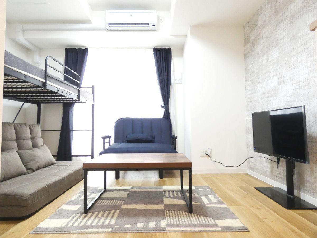 札幌市の家具家電付きマンスリーマンション「ベストステイマンスリーすすきの アルファスクエア南6条 1K」メイン画像
