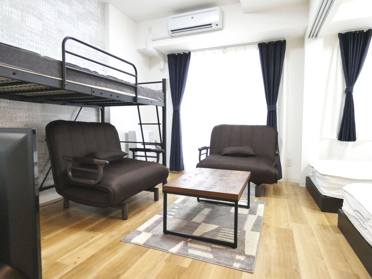 札幌市の家具家電付きマンスリーマンション「ベストステイマンスリーすすきの アルファスクエア南6条 1LDK」メイン画像