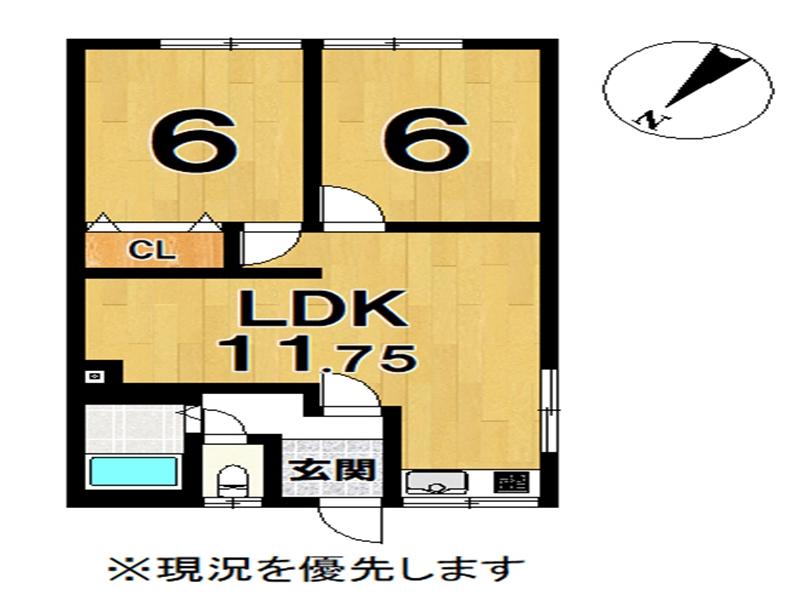 「AMB永山 204」間取図画像