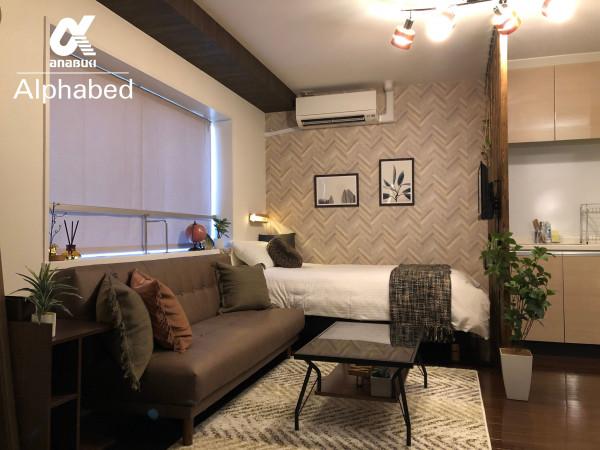 香川県のウィークリーマンション・マンスリーマンション「Alphabed高松古新町 」メイン画像