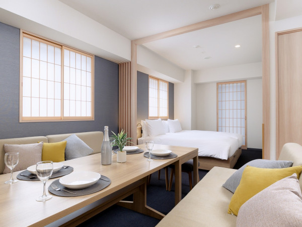 東京都のウィークリーマンション・マンスリーマンション「アパートメントホテル MIMARU東京 赤坂 《マンスリー利用に最適な約40㎡の広いお部屋♪最大4名様までご入居可能です!》」メイン画像