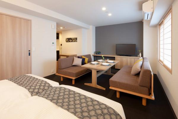 日本全国のウィークリーマンション・マンスリーマンション「アパートメントホテル MIMARU 東京 上野 EAST 《マンスリー利用に最適な約40㎡の広いお部屋♪最大4名様までご入居可能です!》」メイン画像