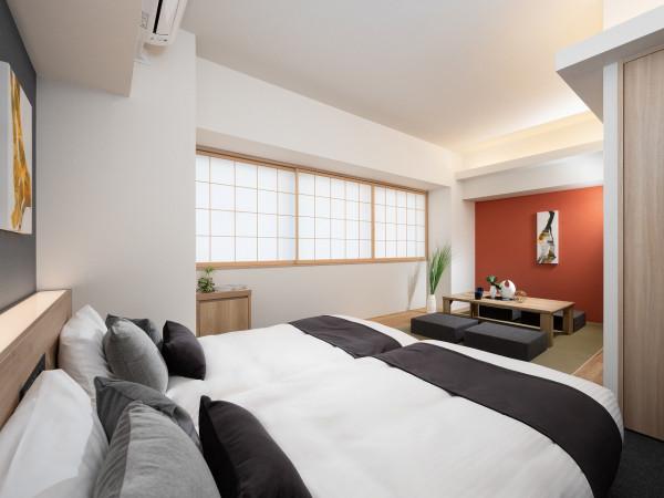 東京都のウィークリーマンション・マンスリーマンション「アパートメントホテル MIMARU 東京 新宿 WEST 《マンスリー利用に最適な約40㎡の広いお部屋♪最大4名様までご入居可能です!》」メイン画像