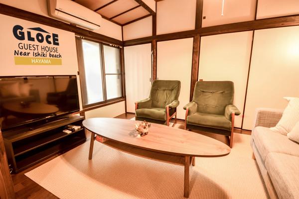 """神奈川県のウィークリーマンション・マンスリーマンション「Glocal hayama near Isshiki Beach  一色海岸に近いグローカルゲストハウス"""" -・1軒貸し切りタイプ」メイン画像"""