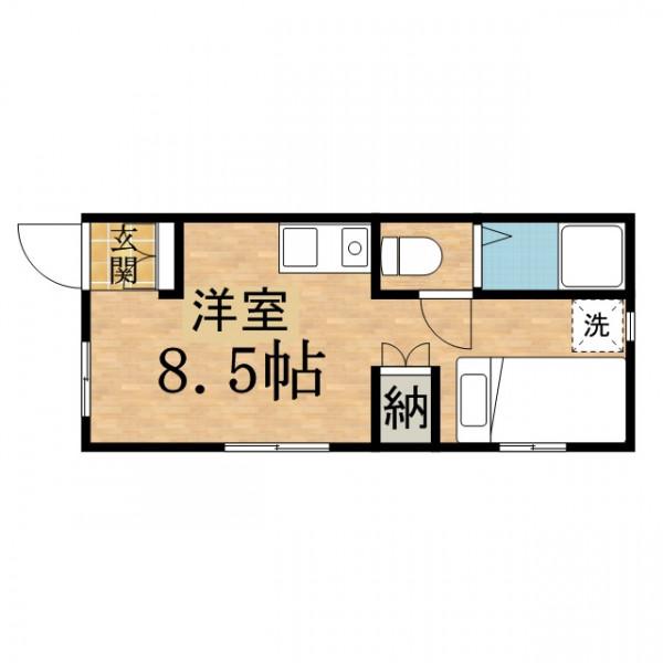 「エスエスマンスリー日野 豊田駅南口前サンタフェ」間取図画像