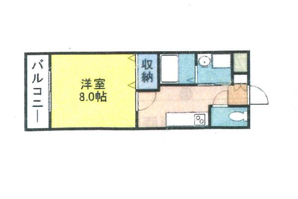 「Kマンスリー米子西福原」間取図画像