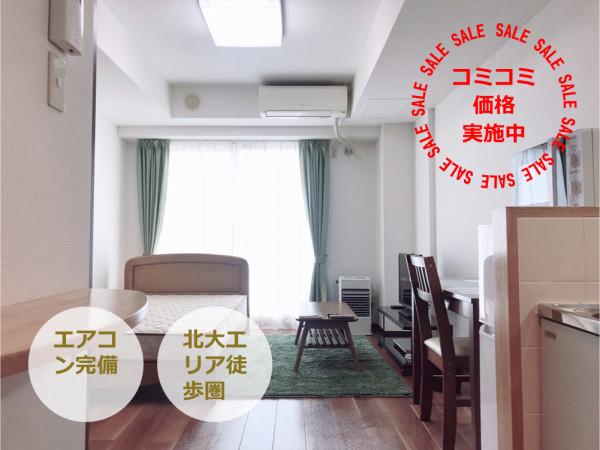 札幌の家具付きウィークリー・マンスリーマンション「エクスフラッツ北大前N20」メイン画像