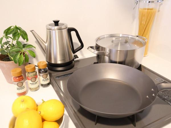 調理器具、食器類もご用意しております