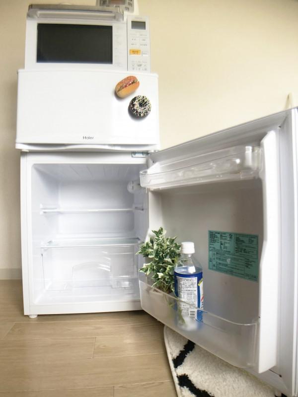 冷蔵庫完備☆ 冷凍スペースも大きいので、食べきれない食材保管にも向いています◎夏はアイスも冷やせれば、帰ったらつめたーい飲み物が待っているという想像も掻き立てられます、、!