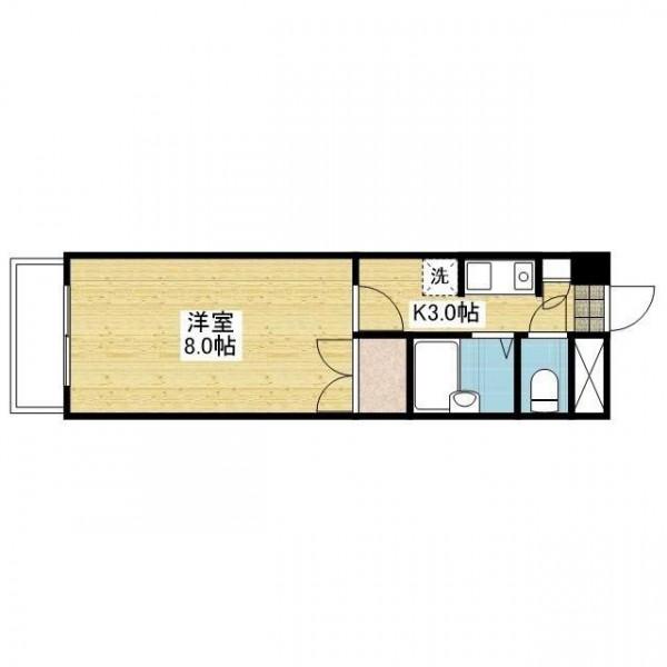 「愛媛マンスリー東温市横河原」間取図画像