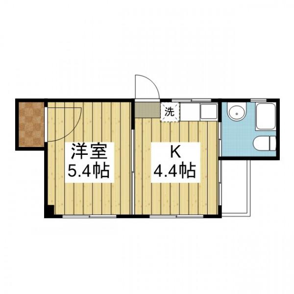「愛媛マンスリー松山市緑町」間取図画像