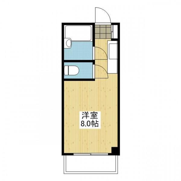 「愛媛マンスリー松山市北立花町」間取図画像