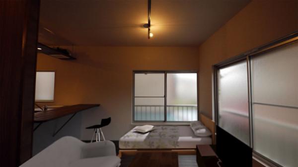 東京都のウィークリーマンション・マンスリーマンション「杉並マンスリー 201・1R ラベンダーブルーのWood room」メイン画像