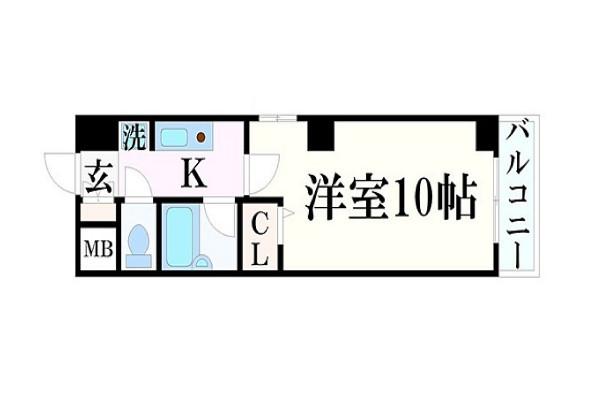「Kマンスリー姫路駅南口前」間取図画像