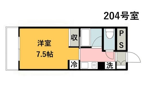 「Kマンスリー鳥取駅前」間取図画像