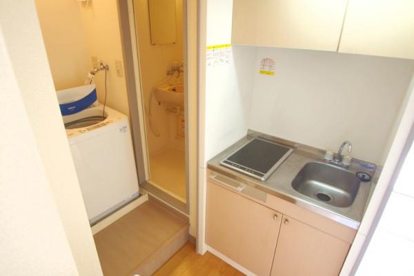 脱衣所は目隠しも可能。洗濯機隣接はとても便利ですよ