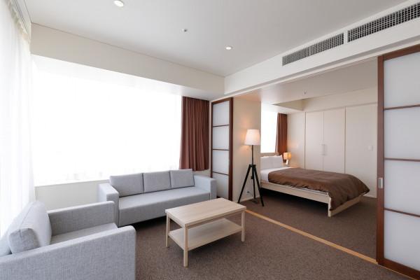 東京都のウィークリーマンション・マンスリーマンション「ビュロー品川サービスアパートメント 1BR Aタイプ(1LDK)(No.296803)」メイン画像