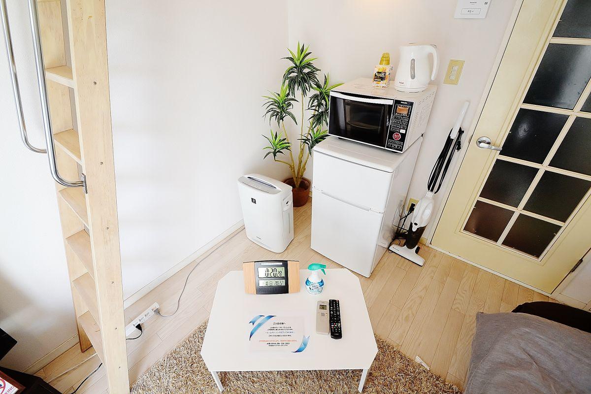 岡山・倉敷ウィークリードットコムでは家具や家電、簡単な調理器具など生活に必要な最低限のものはご用意させていただいておりますのでご入居したその日から生活をしていただけます♪空室確認やお問い合わせは086-250-2433までご連絡ください^^