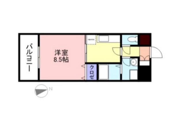 「Kマンスリー米子旗ヶ崎」間取図画像