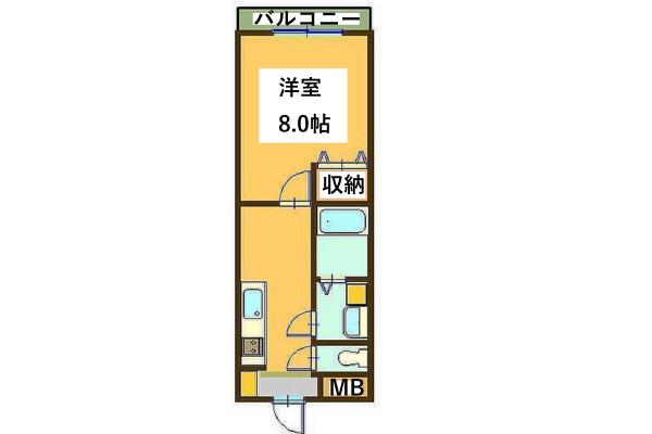 「Kマンスリー米子駅東」間取図画像