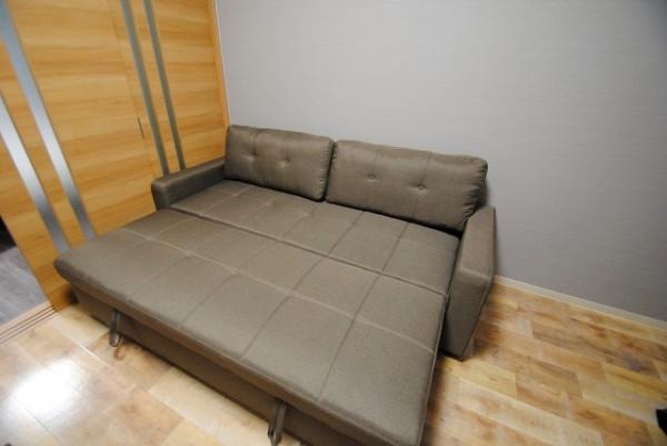 ソファはベッドになります