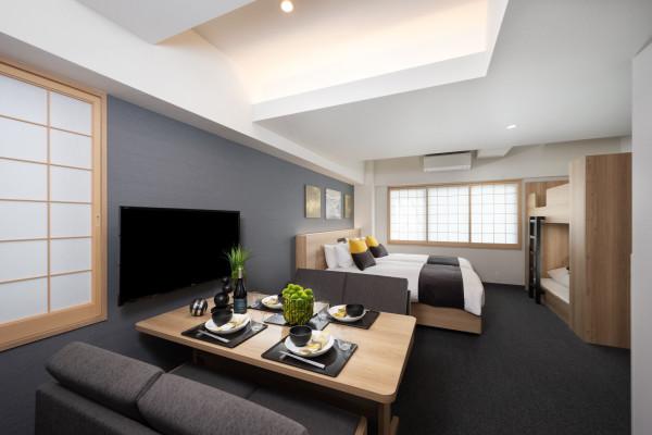 大阪の家具家電付きウィークリーマンション「アパートメントホテル MIMARU 大阪 心斎橋WEST ここは、あなたのサードプレイス。大切な人とあなただけの時間をお過ごし下さい。(No.372458)」メイン画像