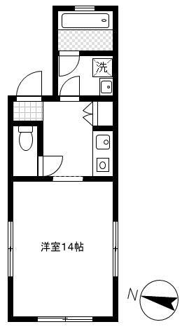 「レンタルハウス プラーズ浅草」間取図画像