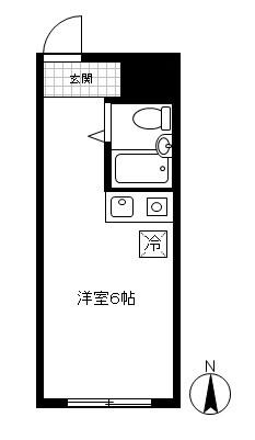 「レンタルハウス リバー綱島」間取図画像
