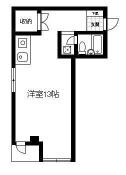 「レンタルハウス プラーズ浅間町」間取図画像