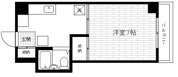 「レンタルハウス プラーズ市ヶ尾」間取図画像