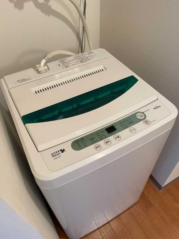 洗濯機もついています♪
