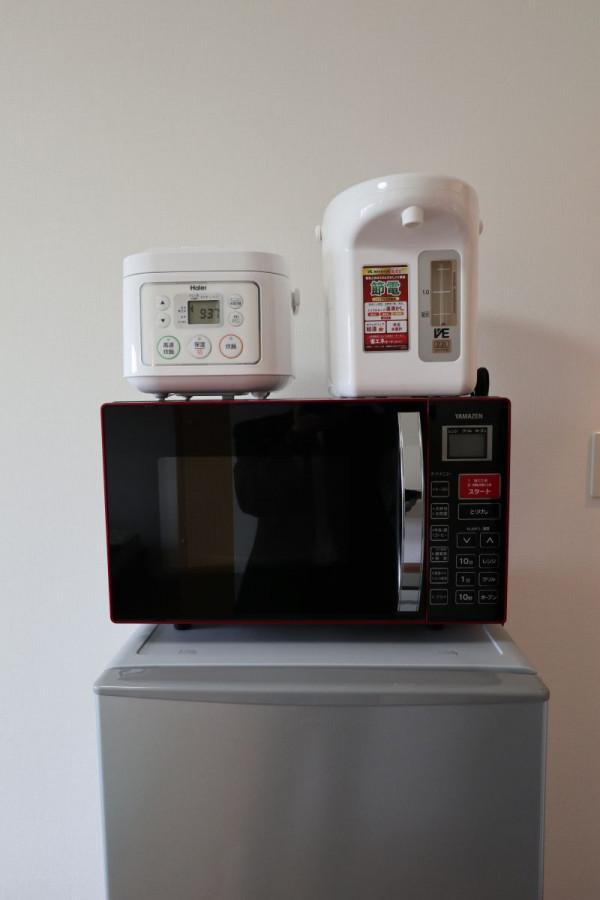 炊飯器・電気ポット・電子レンジも付いていますよ♪