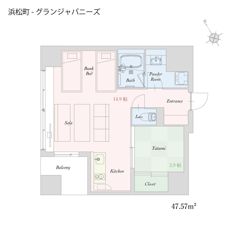 GATE STAY Premium 浜松町(2020年8月OPEN★全室に洗濯乾燥機・調理器具やキッチン付き!)
