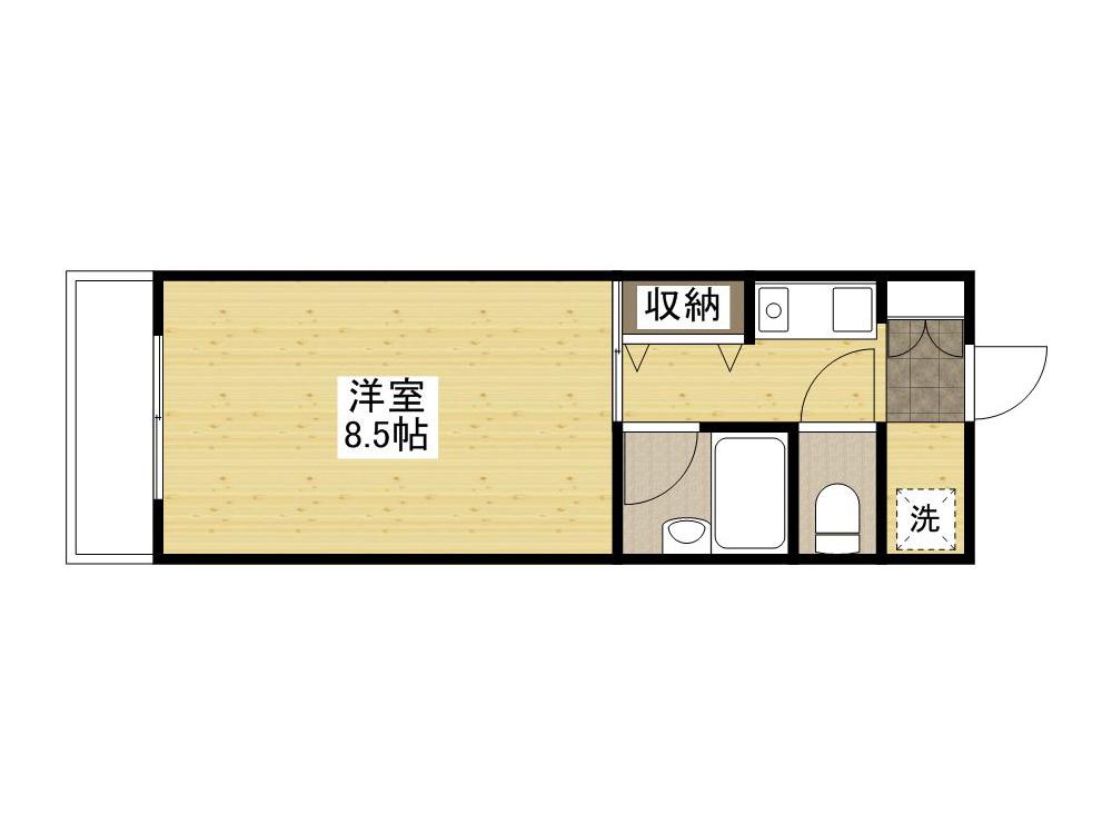 「Kマンスリー上大須賀町」間取図画像