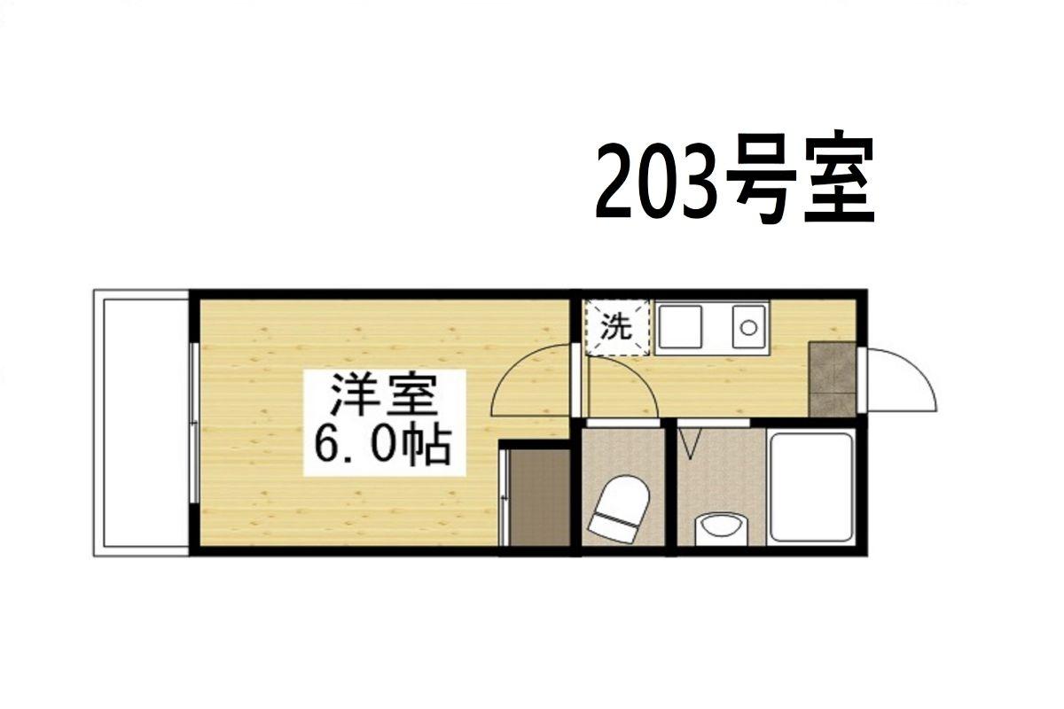 「Kマンスリー倉敷老松【倉敷駅前】」間取図画像