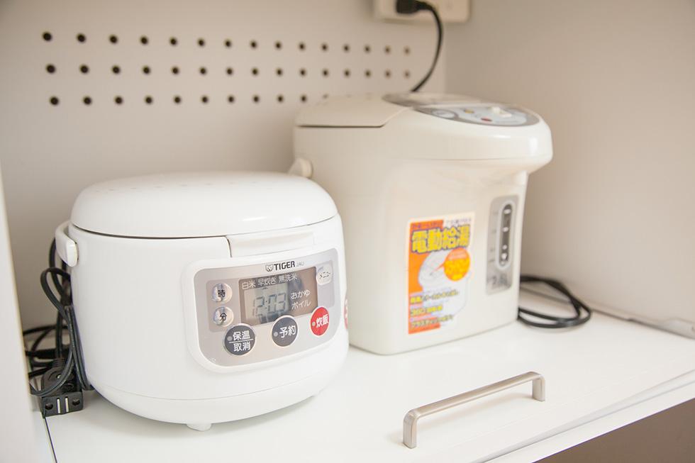 炊飯器・電子ポットもご用意しています。