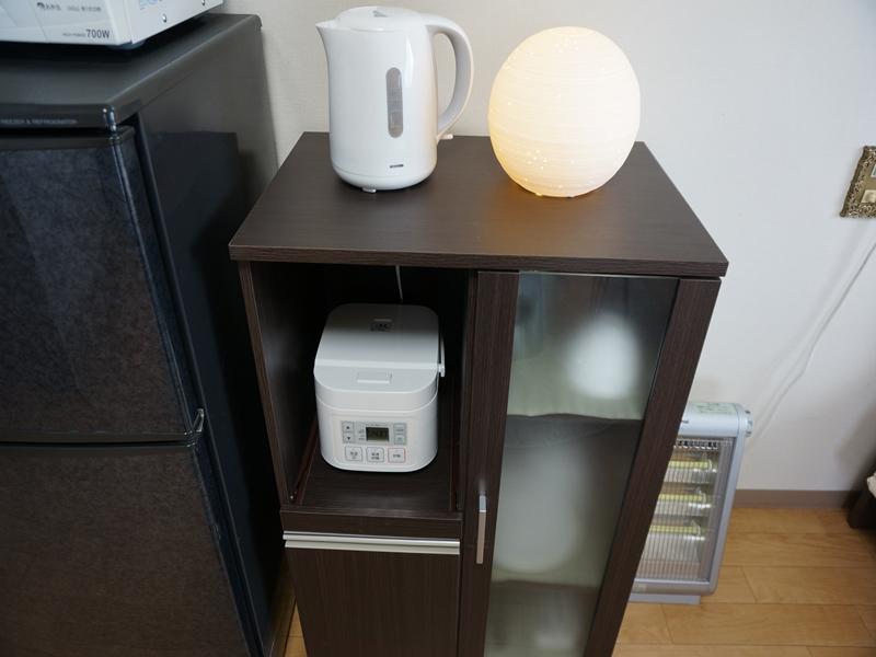 各部屋に家電類・食器・キッチン用品をご用意させてもらっております。